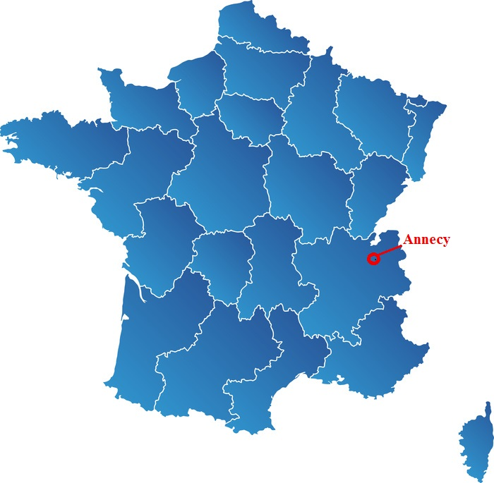 carte de france annecy
